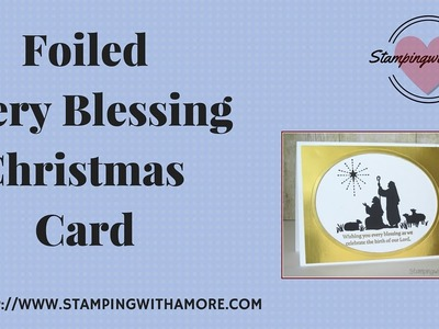 Foiled Every Blessing Christmas Card