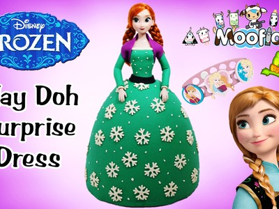 Giant Play Doh Surprise Dress Christmas Disney Frozen Anna Surprise Egg and Toy Collector SETC