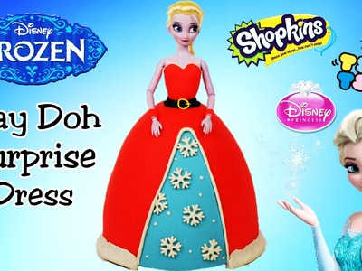 Giant Play Doh Surprise Dress Christmas Disney Frozen Elsa Surprise Egg and Toy Collector SETC
