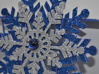 Glittering floating Snowflake Card - Cricut Explore - Count down to Christmas