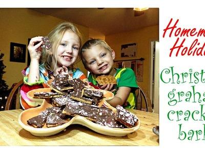 Homemade Holidays: Christmas Graham Cracker Bark