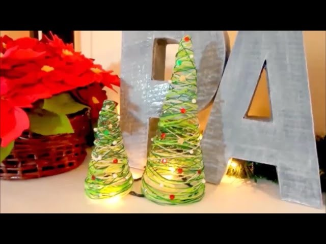 Mini Christmas tree of wire, inexpensive ideas for decorating easy Christmas crafts - Isa ❤️