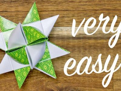 Origami Froebel Star making, easy Christmas Star tutorial