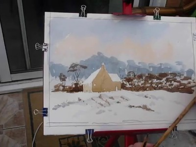 Paint a christmas card with Alan Owen