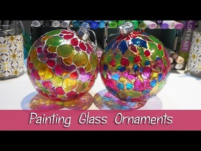 Painting Glass Ornaments - Tips on using Glass Paints - Christmas Tree Decorations - Ma'at Silk