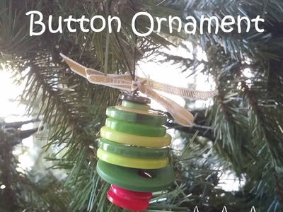 Pinterst Inspired Button Christmas Tree Ornament