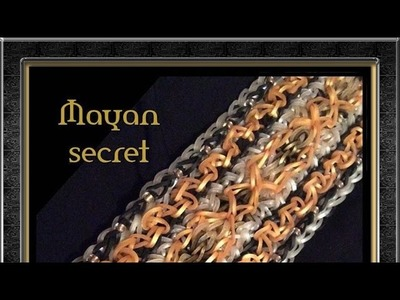 Rainbow Loom Band Mayan Secret Bracelet Tutorial.How To