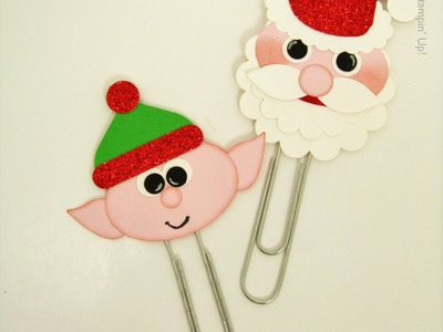 Santa & Elf Giant Paperclips - Christmas Eve Box Stampin' Up! UK