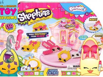 Shopkins Beados Prommy Ruby Earring Craft | Fashion Cuties Set Review | PSToyReviews