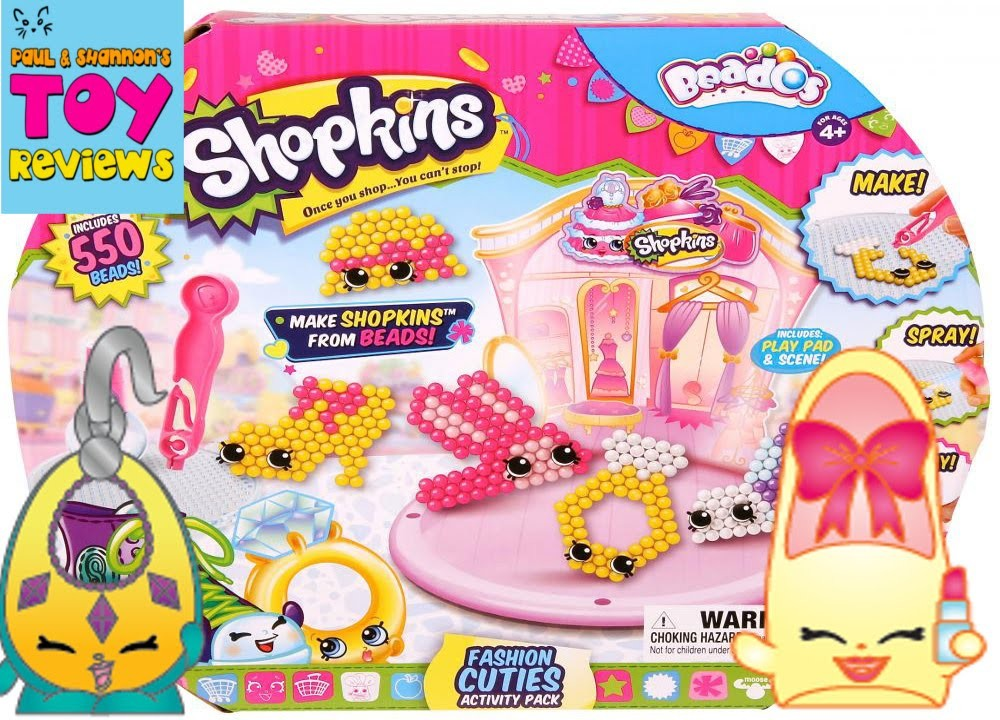 Shopkins Beados Prommy Ruby Earring Craft   Fashion Cuties Set Review   PSToyReviews