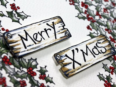 Simple Christmas Doodle for Christmas Card