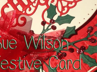 Sue Wilson Festive Christmas Tree Card