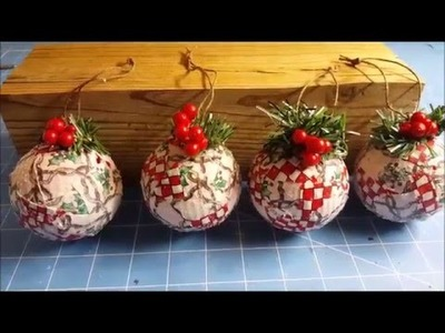 Tricia's Creations: Fabric Mosaic Christmas Ornaments