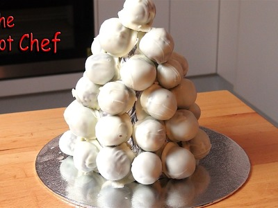 White Chocolate Christmas Truffle Tower | One Pot Chef