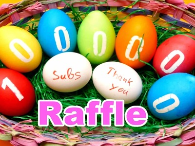 1 Million Subscriber Raffle ❤❤❤ & DIY Easter Egg Coloring Video