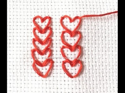 DIY Embroidery Project Chain of Heart Napkins + Tutorial .