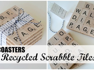 DIY Gift Idea | Recycled Scrabble Tile Coasters | Updates