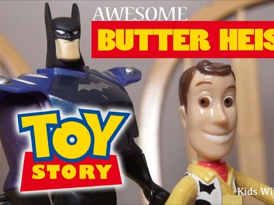 How-To DIY Make Homemade Butter!  Toy Story 4 Parody: Batman Toys & Woody Toy Story Toys