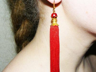 How to make DIY Tassel Fringe Earrings