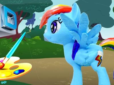 3d print CUSTOM My Little Pony RAINBOW DASH paint craft tutorial HD