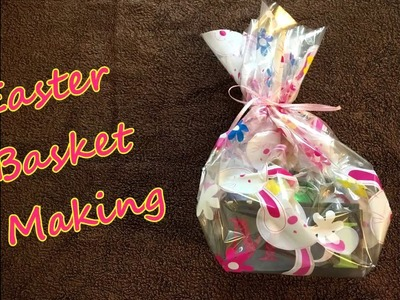 ASMR Easter Basket craft | Cutting, folding paper, crinkling (silent no talking close-up)