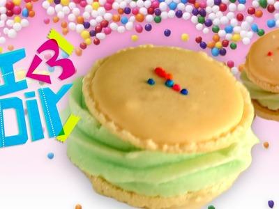 Birthday Cake Macarons with SweetEmelyne | I ♥ DIY