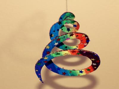 Cardboard Rainbow Streamer. Infant Eye Catcher.Birthday Decor Idea.Simple Kids Craft