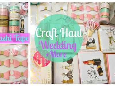 Craft Haul | Wedding, Washi Tape + more