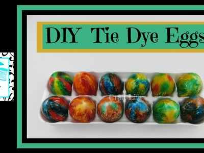 Craft Life ~ Jacy and Kacy DIY ~ Tie Dye Easter Egg Tutorial