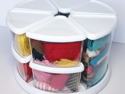 Craft Storage Ideas - Rotating Storage Containers