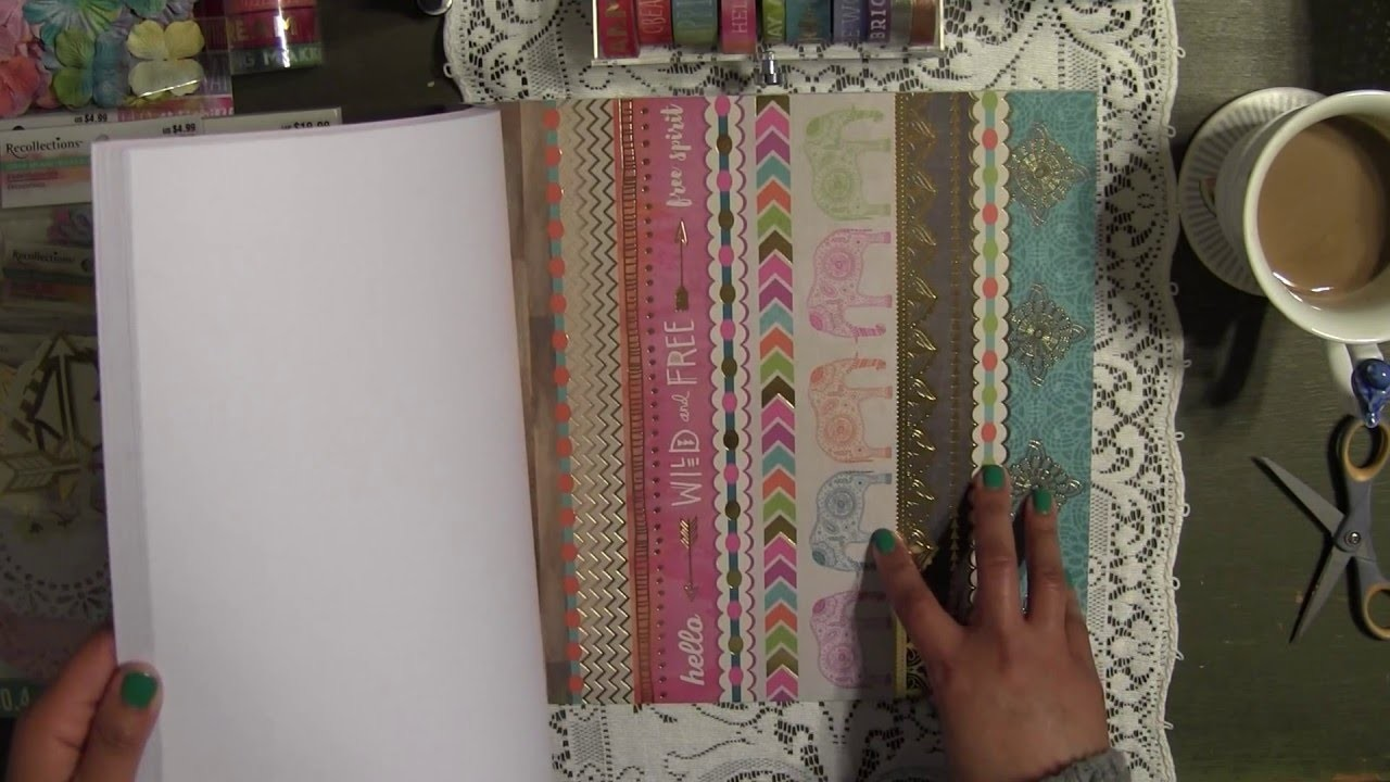 Crafty Scrapbook Haul- New Collection Color Splash & Boho from Michael's Craft Store