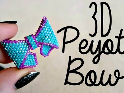 DIY 3D Beaded Bow How To!. Bead Weaving. ¦ The Corner of Craft