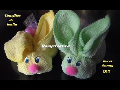 Diy craft Babyshower towel BUNNY - conejitos de toalla. Ronycreativa English Channel