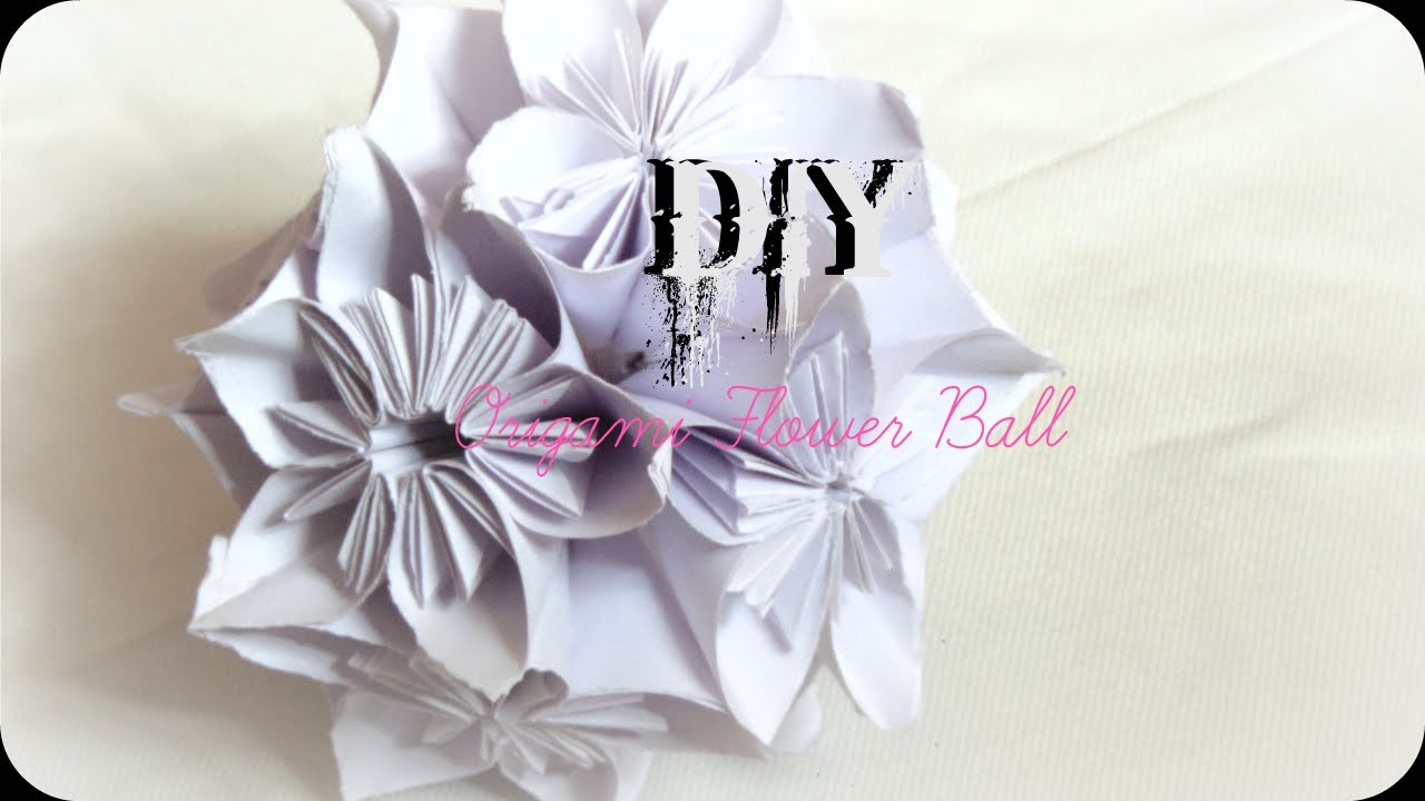 Diy How To Make Origami Flower Ball Easy Paper Craft