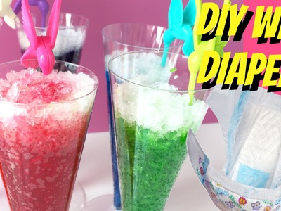 DIY RAINBOW ORBEEZ CRUSH WITH DIAPERS! Rainbow Orbeez drink.ice dessert - Make your own