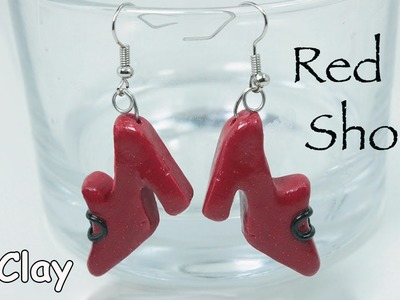 DIY Red earrings shoes - Polymer clay tutorial