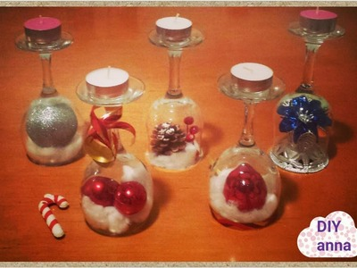 Easter and christmas decorations candle holder vine glasses DIY craft ideas tutorial. URADI SAM