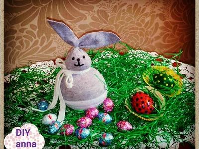 Easter bunny ideas decorations DIY craft made of socks tutorial. URADI SAM
