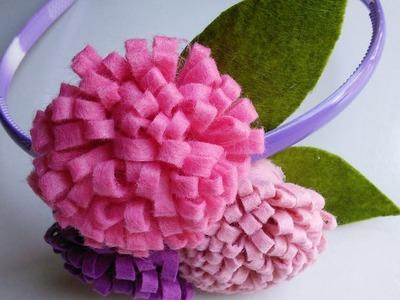 Felt Craft Tutorial | Flower Craft for Headbands | HandiWorks #44
