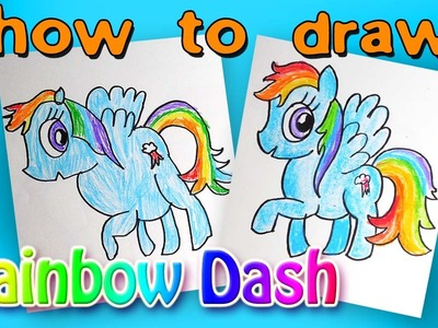 How To Draw Rainbow Dash, from My Little Pony