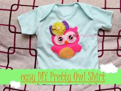 How To Make a Pretty Owl t shirt - DIY Felt Craft