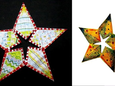 How to Make Paper Star.Diy craft