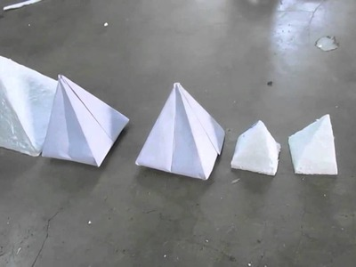 How To Make Pyramid by Paper Cutting Art and Craft part 3