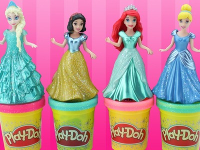 Play Doh Craft | Disney Princess Magic Clip Compilation | Rapunzel Frozen Elsa Anna | AmuzingToyz