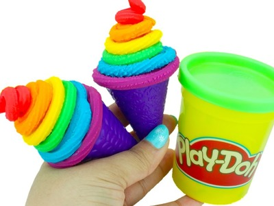Play Doh Craft | How To Make Rainbow Ice Cream Cone | AmuzingToyz
