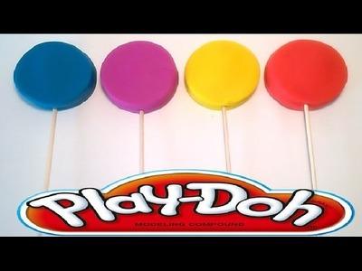 Play Doh surprise eggs Peppa Pig cerdita plastelina Lollipop Lalaloopsi rainbow color minnie kinder