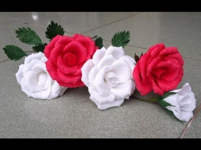Rose with crepe paper - craft tutorial