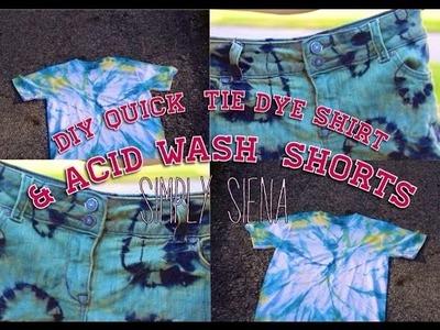 Acid Wash Shorts and Quick Tie Dye Shirt DIY   Simply Siena  