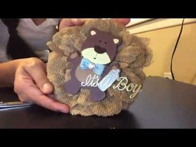 Baby shower corsage DIY