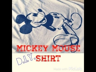 D.I.Y. Mickey Mouse shirt